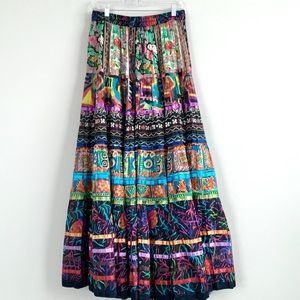 Soft Surrounding Tiered Floral Boho Ribbon Skirt